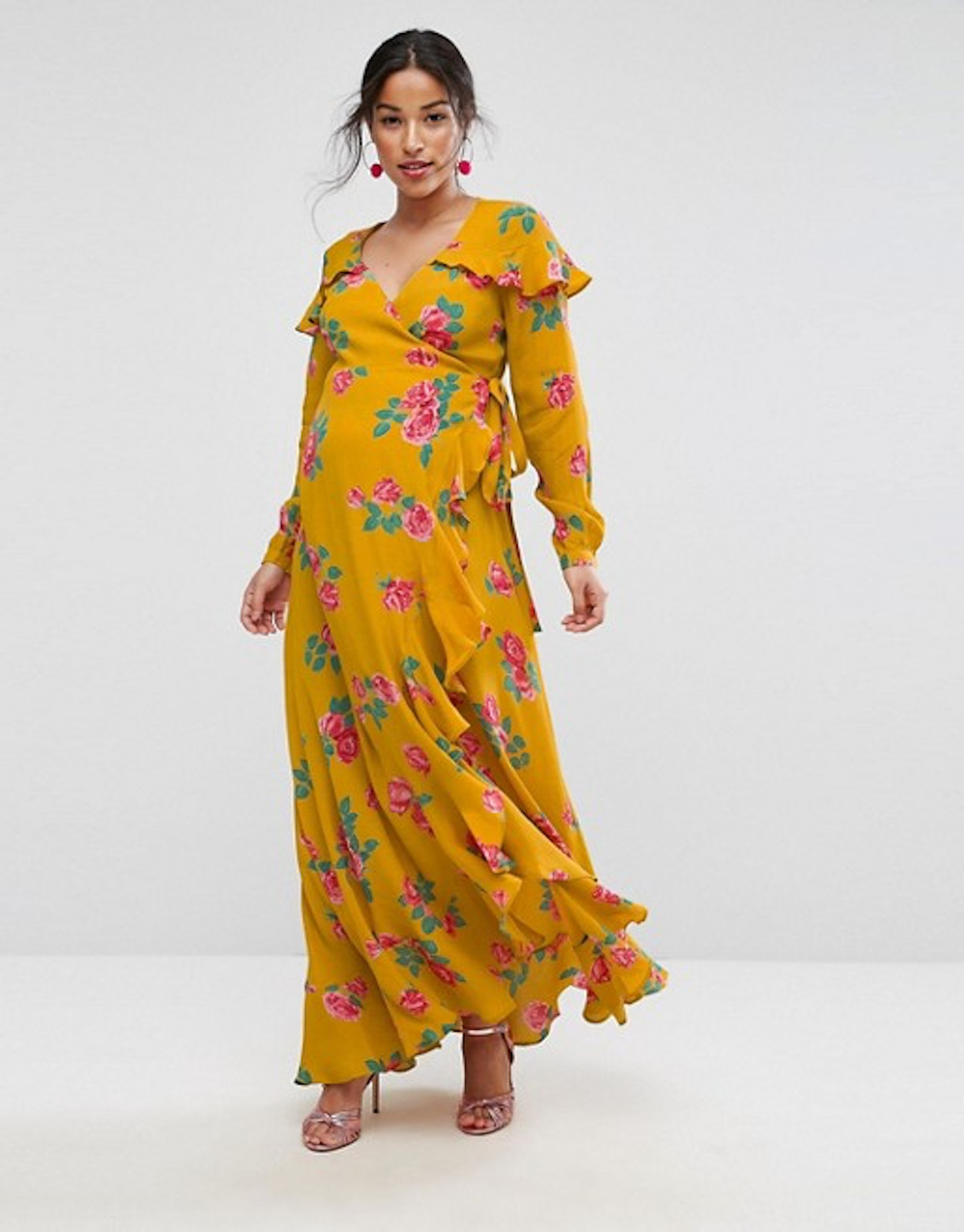 c88bfe7f3e9 Asos Maternity Long Sleeve Floral Maxi Dress - Data Dynamic AG