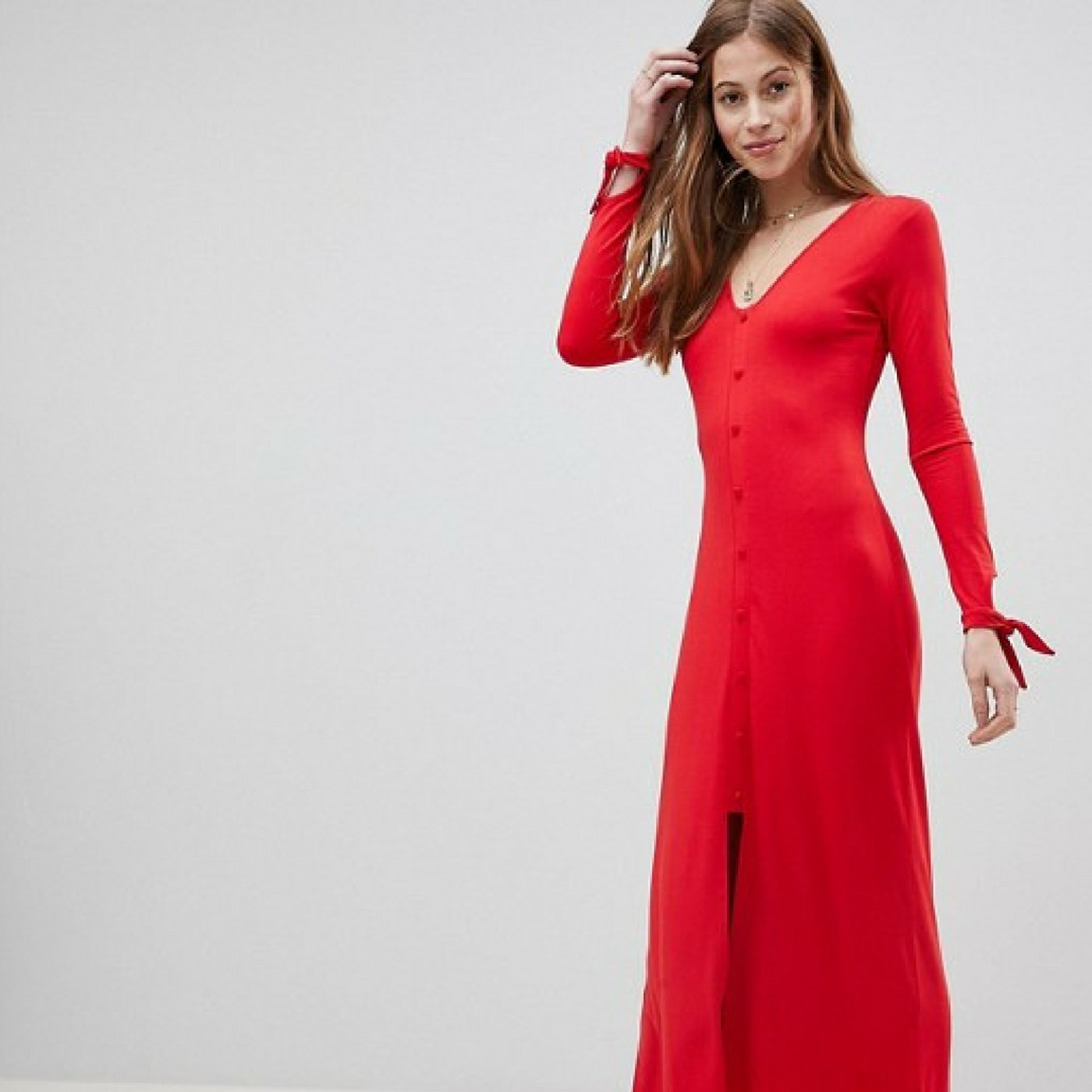 43139026fb9 Asos Maxi Dress With Long Sleeves - Data Dynamic AG