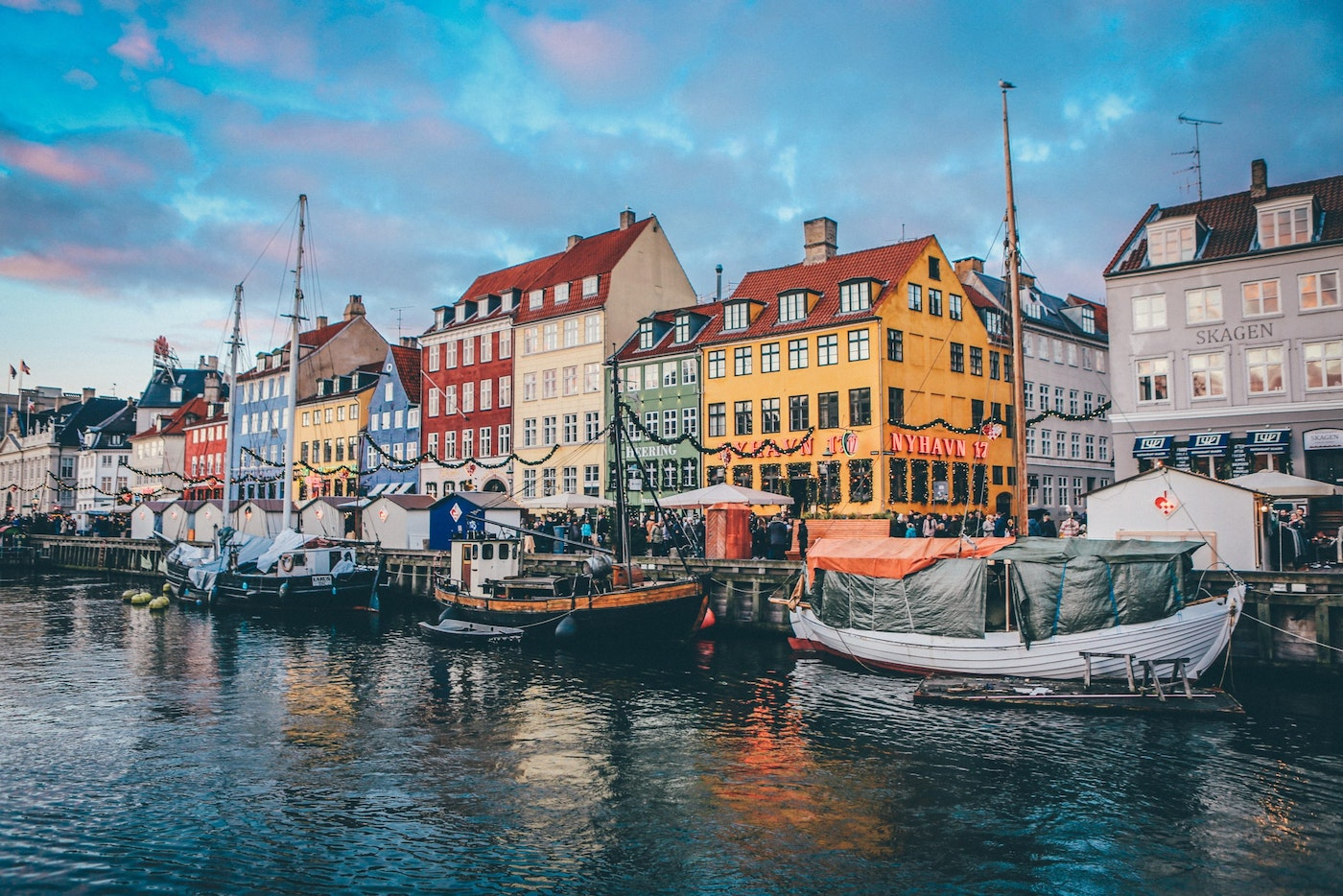 colourful houses on denmark's waterfront
